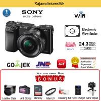 Sony Alpha A6000 Kit 16-50mm - Hitam + Gratis Aksessories Kamera