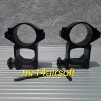 Jual Mounting Airsoft Gun, Dudukan Untuk Pasang Scope /Senter Murah