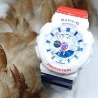 BABY G GA 110 CARACTER RED WHITE BLUE