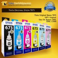 Tinta Printer Epson 673 T673 Original 1 SET Epson L800 L805 L850 L1800