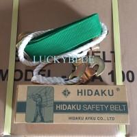 safety belt, belt pengaman / sabuk pengaman bangunan, proyek. HIDAKU