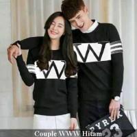 Lengan panjang couple kekinian | baju kapel serasi | WWW hitam