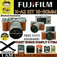 Jual FUJIFILM X-A2 Kit 16-50mm / FUJI X-A2 / XA2 / X-A2 BROWN / XA2 BROWN Murah