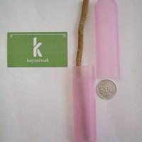 Tempat Simpan Kayu Siwak Portabel untuk Perjalanan | Holder Warna Pink
