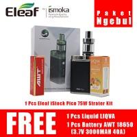 Rokok elektrik eleaf istick pico paket ngebul FREE BATTERY & LIQUID