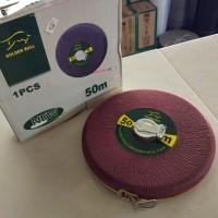 Meteran Gulung / Roll Model Tarik / Cloth Tape Measuring Tape 50 meter