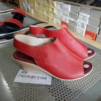 harga Sandal Sepatu Wedges Wanita Kulit Sapi Asli Heels 5cm Tokopedia.com