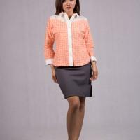 Baju Pramugari Size S-M-XL Model Blouse Batik Pramugari Lengan Panjang