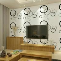 Jual Wallpaper Polkadot 45cmx10m/Wallpaper Sticker/Wallpaper Dinding Murah
