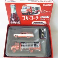 Jual TOMICA LIMITED VINTAGE 1/64 CROWN VAN & NISSAN 3.5t TRUCK Coca-Cola Murah