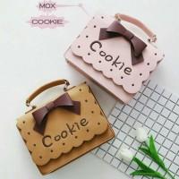 Jual tas selempang wanita / handbag cookie slingbag murah mox Murah