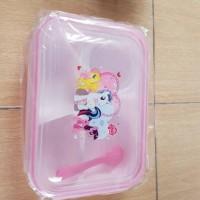tempat / kotak makan 3 sekat little pony pink