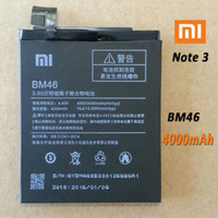 Harga batre batrei baterai battery xiaomi redmi note 3 bm46 bm 46 | Pembandingharga.com