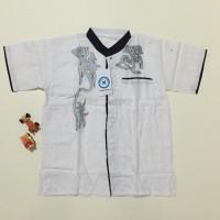 Jual Promo        Baju Koko Anak bordir warna putih uk 4 lengan pendek Murah