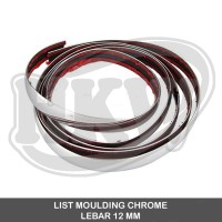LIST MOULDING CHROME BEMPER MOBIL 12 MM ( 7.5 METER )