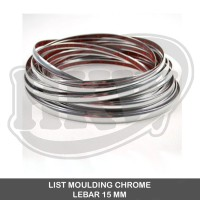 LIST MOULDING CHROME BEMPER MOBIL 15 MM ( 7.5 METER )