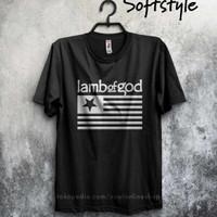 baju pakaian kaos band metal lamb of god log pure american metal