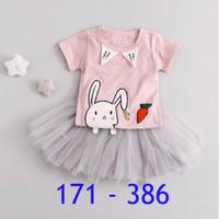 Setelan bayi perempuan | Rok tutu anak | Baju bayi perempuan 386