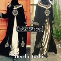 Jual Abaya gamis bordir Turki plus pashmina Murah
