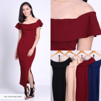 Jual Vyolia Plain Bodycon Midi Dress Murah