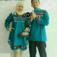 Atasan Blouse Kemeja Baju Batik Koko Couple Pasangan Muslim Tunik Top