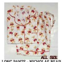 Baju Tidur Piyama Dewasa - Nicolas Bear Short Pants Pajamas