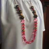 Jual kalung handmade etnik kristal labu Murah