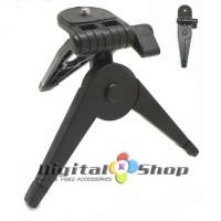 Jual Promo !! Foldable Mini Table Tripod / Hand Grip - Black Murah
