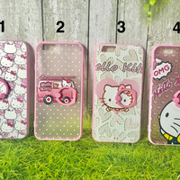 Jual soft case casing iring iphone 6 6s 7 plus hello kitty murah cute Murah