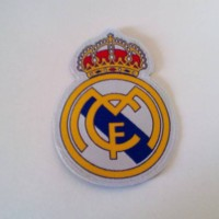 Logo Patch Woven / Emblem Club Bola Real Madrid