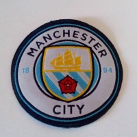 Logo Patch Woven / Emblem Club Bola Manchester City