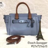 COACH Swagger 27 Handbag Light Blue Sky Two-tone 100% Ori Original Tas