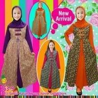 harga 3in1 Baju Anak Perempuan Little Pineapple Gamis Rompi Jumbo + Jilbab Tokopedia.com