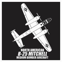 Jual North American B-25 Mitchell Medium Bomber Aircraft Cutting Sticker Murah