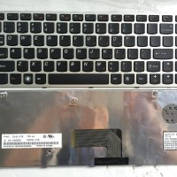 KEYBOARD LENOVO IDEAPAD U460 U460A U460S V-115420AS1 SILVER FRAME