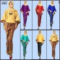 GWJ baju setelan batik wanita atasan bawahan roklilit dan blus batwing