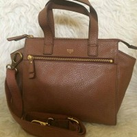 Fossil Tessa Satchel Brown NWT. Tas Branded Original
