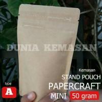 Jual KEMASAN KOPI MINI PAPERCRAFT 50GR/PLASTIK KLIP/STANDING POUCH/GUSSET Murah