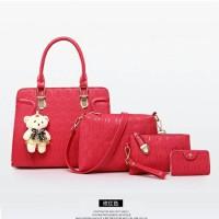 Tas Fashion Wanita/Handbag Cewe Impor 4 in 1 Murah Berkualitas BTH-088