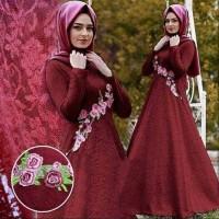 Jual gamis pesta lebaran mewah baju busana pakaian muslim syari xl syariah Murah