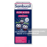 Sambucol Black Elderberry Liquid Extract + Vitamin C for Kids (UK