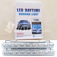 Jual Lampu LED DRL 8 LUX / LED DRL Mobil / Lampu Eksterior DRL 8 LED / LED Murah