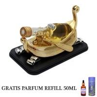 GRATIS PARFUM REFILL 50ML - Parfum Mobil Dashboard Mewah - Perahu Gold