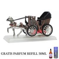 GRATIS PARFUM REFILL 50ML - Parfum Mobil Dashboard Mewah - Kereta Kuda