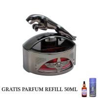 GRATIS PARFUM REFILL 50ML - Parfum Mobil Dashboard Mewah Jaguar Black