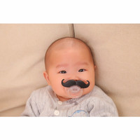 Jual Empeng lucu unik, empeng berkumis, pacifier, dot berkumis bayi anak Murah