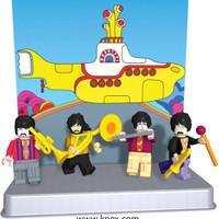 Jual KNEX THE BEATLES YELLOW SUBMARINE MINIFIGURES LEGO Murah