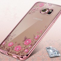 SAMSUNG GALAXY C5 Diamond Flower Butterfly Tpu Silicone RubberSoftCase
