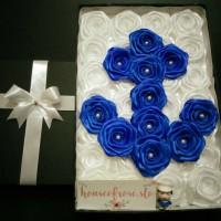 Jual Buket bunga box satin / kado bunga / hadiah unik Murah