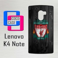 Casing Hp Lenovo K4 Note liverpool fc wood X4394